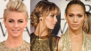 макияж под золотистое платье